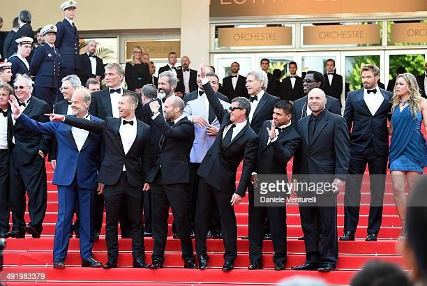 Actors Glen Powell Kelsey Grammer Dolph Lundgren Harrison Ford director Patrick Hughes actors Antonio Banderas Randy Couture Victor Ortiz Mel Gibson...
