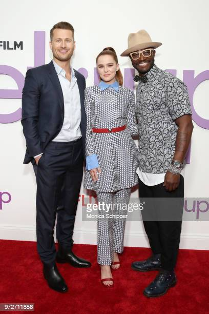 Actors Glen Powell Zoey Deutch and Taye Diggs attend a special screening of the Netflix film 'Set It Up' at AMC Lincoln Square Theater on June 12...