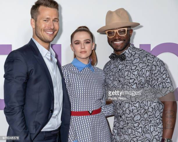 Actors Glen Powell Zoey Deutch and Taye Diggs attend the New York special screening of the Netflix film 'Set It Up' at AMC Loews Lincoln Square