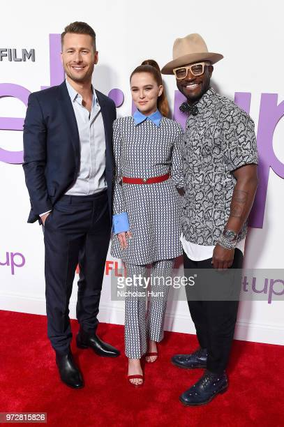 Actors Glen Powell Zoey Deutch and Taye Diggs attend the 'Set It Up' New York screening at AMC Lincoln Square Theater on June 12 2018 in New York City