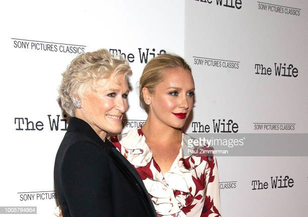 Actors Glenn Close and Annie Starke attend The Wife New York Screening at The Paley Center for Media on July 26 2018 in New York City