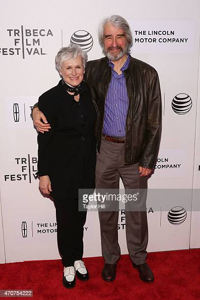 """Actors Glenn Close and Sam Waterston attend the world premiere of """"Anesthesia"""" during the 2015 Tribeca Film Festival at BMCC Tribeca PAC on April 22,..."""