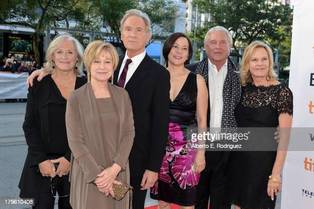 Actors Glenn Close Mary Kay Place Kevin Kline Meg Tilly Tom Berenger and JoBeth Williams arrive at 'The Big Chill' 30th Anniversary screening during...