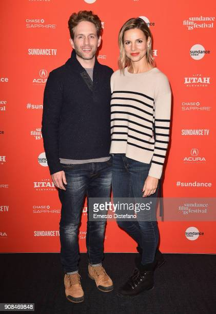 Actors Glenn Howerton and Jill Howerton attend the 'The Devil We Know' Premiere during the 2018 Sundance Film Festival at The Ray on January 21 2018...