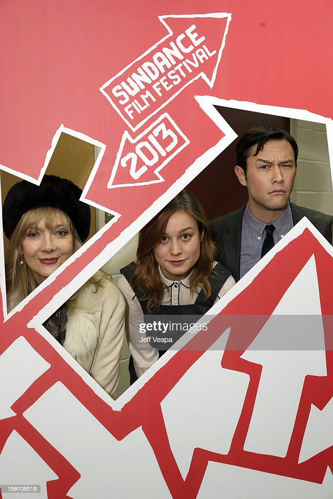 Actors Glenne Headly and Brie Larson and actor/director Joseph Gordon-Levitt attend 'Don Jon's Addiction' Premiere during the 2013 Sundance Film Festival at Eccles Center Theatre on January 18, 2013 in Park City, Utah.
