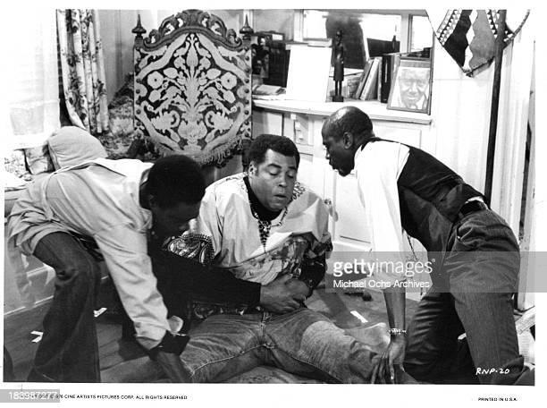 Actors Glynn Turman James Earl Jones and Louis Gossett Jr on set of the Cine Artists Picture movie 'The River Niger' in 1976