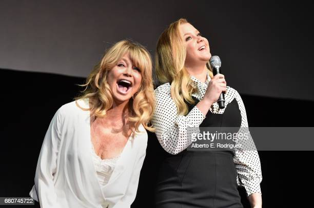 Actors Goldie Hawn and Amy Schumer speak onstage at CinemaCon 2017 20th Century Fox Invites You to a Special Presentation Highlighting Its Future...