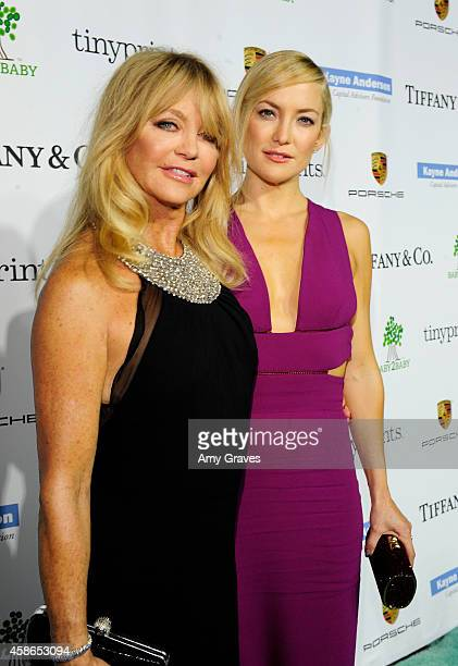 Actors Goldie Hawn and Kate Hudson attend the 2014 Baby2Baby Gala presented by Tiffany Co on November 8 2014 in Culver City California