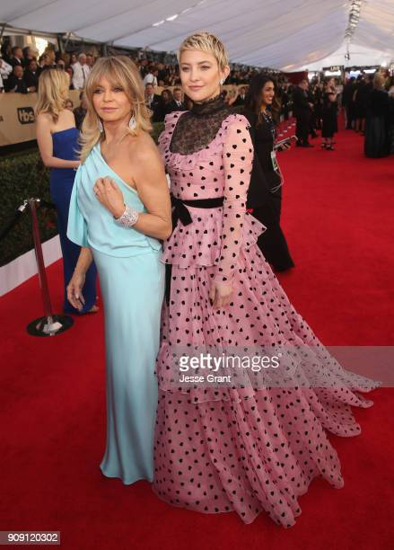 Actors Goldie Hawn and Kate Hudson attend the 24th Annual Screen Actors Guild Awards at The Shrine Auditorium on January 21 2018 in Los Angeles...
