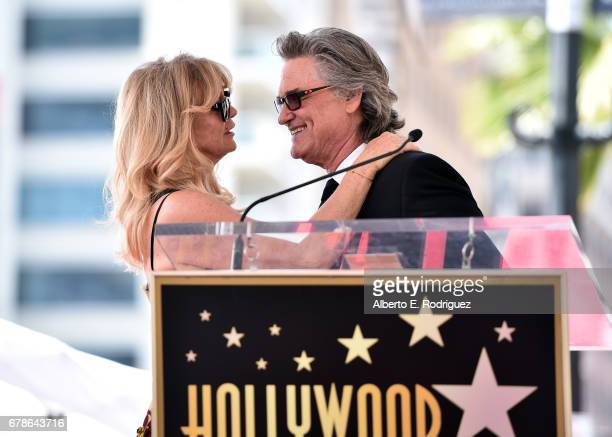 Actors Goldie Hawn and Kurt Russell are honored with a double star ceremony on the Hollywood Walk of Fame on May 4, 2017 in Hollywood, California.