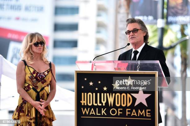 Actors Goldie Hawn and Kurt Russell are honored with a double star ceremony on the Hollywood Walk of Fame on May 4 2017 in Hollywood California