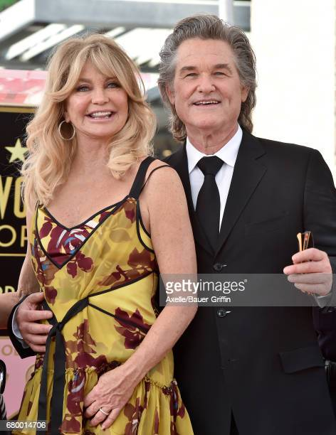 Actors Goldie Hawn and Kurt Russell are honored with double star ceremony on the Hollywood Walk of Fame on May 4 2017 in Hollywood California
