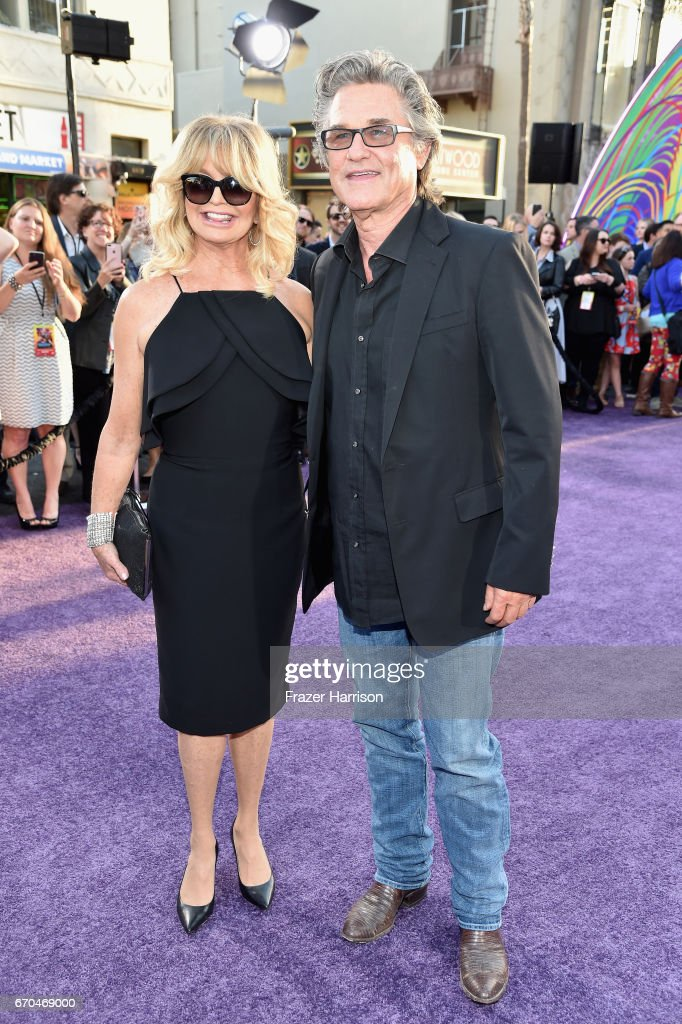Actors Goldie Hawn and Kurt Russell arrive at the premiere of Disney and Marvel's 'Guardians Of The Galaxy Vol. 2' at Dolby Theatre on April 19, 2017 in Hollywood, California.