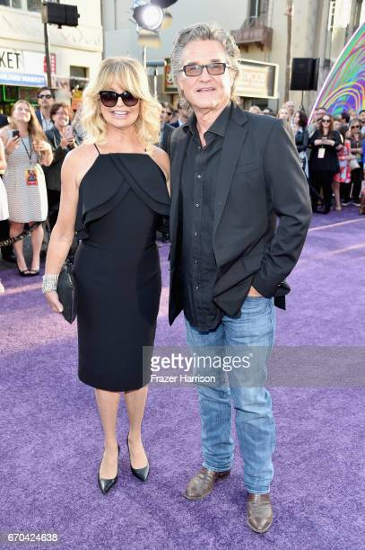 Actors Goldie Hawn and Kurt Russell at the premiere of Disney and Marvel's 'Guardians Of The Galaxy Vol 2' at Dolby Theatre on April 19 2017 in...