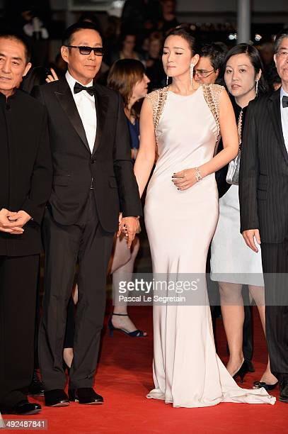 Actors Gong Li and Chen Daoming attend the Gui Lai premiere during the 67th Annual Cannes Film Festival on May 20 2014 in Cannes France