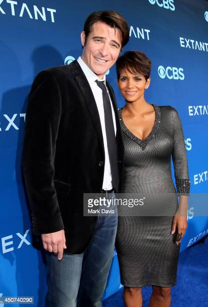 Actors Goran Visnjic and Halle Berry attend Premiere Of CBS Television Studios Amblin Television's Extant at California Science Center on June 16...