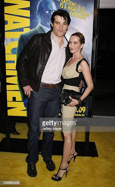Actors Goran Visnjic and Ivana Vrdoljak arrive at the Los Angeles premiere of Watchmen at Grauman's Chinese Theatre on March 2 2009 in Hollywood...