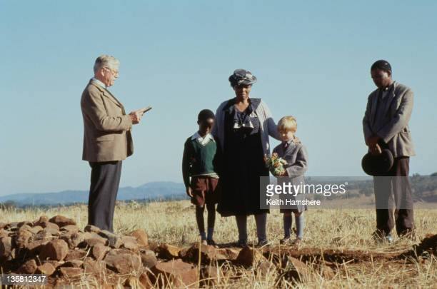Actors Gordon Arnell as the minister Tonderai Masenda as Tonderai Guy Witcher as the 7yearold PK Nomadlozi Kubheka as Nanny in the film 'The Power of...