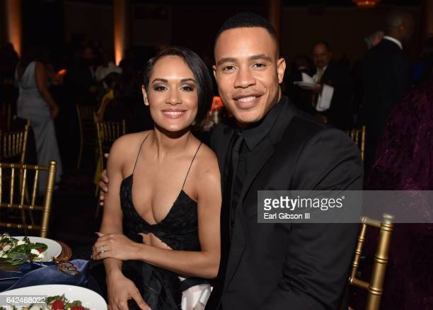 Actors Grace Gealey and Trai Byers attend BET Presents the American Black Film Festival Honors on February 17 2017 in Beverly Hills California