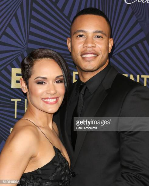 Actors Grace Gealey and Trai Byers attend the BET's 2017 American Black Film Festival Honors Awards at The Beverly Hilton Hotel on February 17 2017...