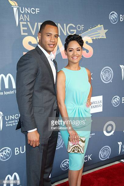 Actors Grace Gealey and Trai Byers attend the UNCF 'An Evening Of Stars' at Boisfeuillet Jones Atlanta Civic Center on April 12, 2015 in Atlanta,...