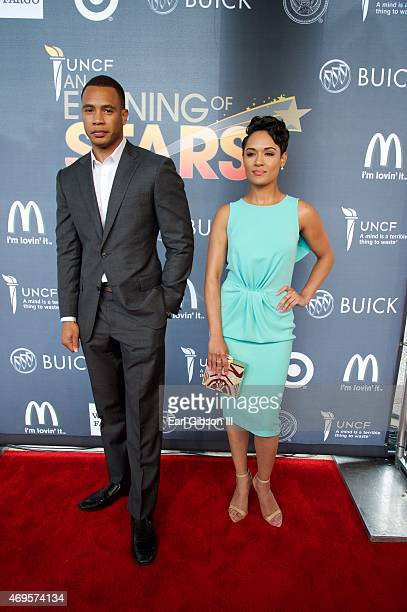 Actors Grace Gealey and Trai Byers attend the UNCF 'An Evening Of Stars' at Boisfeuillet Jones Atlanta Civic Center on April 12 2015 in Atlanta...