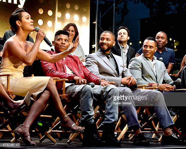 Actors Grace Gealey Bryshere Yazz Gray Jussie Smollett and Trai Byers appear onstage at the Television Academy event for Fox Tv's Empire A...
