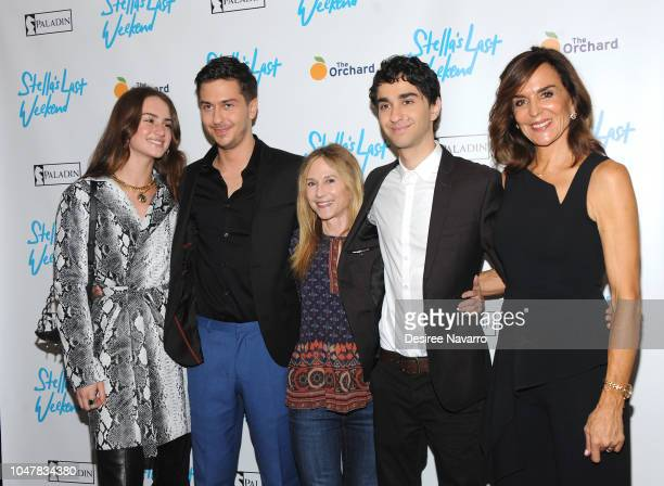 Actors Grace Van Patten Nat Wolff Holly Hunter Alex Wolff and director Polly Draper attend 'Stella's Last Weekend' New York Premiere at Angelika Film...