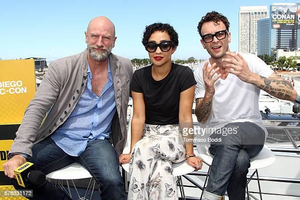Actors Graham McTavish Ruth Negga and Joe Gilgun attend the IMDb Yacht at San Diego ComicCon 2016 Day One at The IMDb Yacht on July 21 2016 in San...