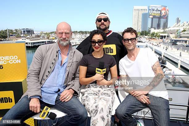 Actors Graham McTavish Ruth Negga and Joseph Gilgun of 'Preacher' with moderator Kevin Smith during ComicCon International 2016 at San Diego...