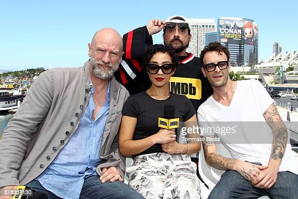 Actors Graham McTavish Ruth Negga Joe Gilgun and host Kevin Smith attend the IMDb Yacht at San Diego ComicCon 2016 Day One at The IMDb Yacht on July...