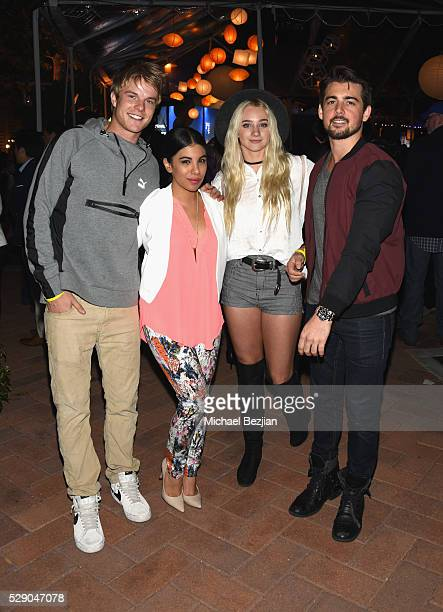 Actors Graham Rogers, Chrissie Fit, dancer/actress Mollee Gray and actor John DeLuca attend City Year Los Angeles Spring Break Event at Sony Studios...