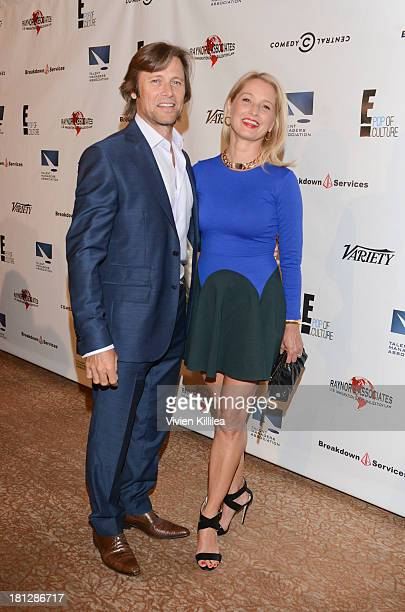 Actors Grant Show and Katherine LaNasa attend the 12th Annual Heller Awards at The Beverly Hilton Hotel on September 19 2013 in Beverly Hills...