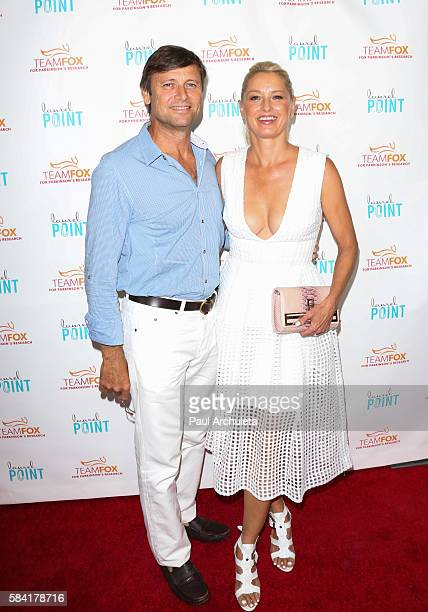 Actors Grant Show and Katherine LaNasa attend the 'Raising The Bar To End Parkinson's' at Laurel Point on July 27 2016 in Studio City California