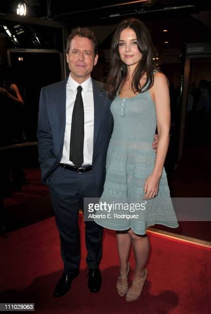 """Actors Greg Kinnear and Katie Holmes arrive at The ReelzChannel World premiere of """"The Kennedys"""" at AMPAS Samuel Goldwyn Theater on March 28, 2011 in..."""