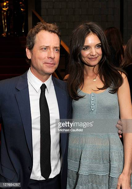 "Actors Greg Kinnear and Katie Holmes attend the after party for ""The Kennedys"" world premiere held at AMPAS Samuel Goldwyn Theater on March 28, 2011..."