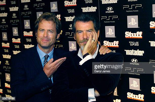 "Actors Greg Kinnear and Pierce Brosnan attend the afterparty for the film ""The Matador"" during the 30th Annual Toronto International Film Festival..."