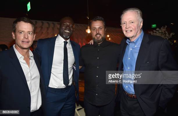 Actors Greg Kinnear Djimon Hounsou writer/director Michael Carney and actor Jon Voight attend the after party for the premiere of Paramount Pictures...