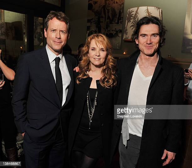 Actors Greg Kinnear Lea Thompson and Billy Crudup attend the after party for the Cinema Society Grey Goose screening of Thin Ice at the Soho Grand...