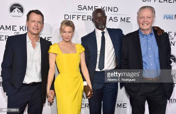 Actors Greg Kinnear Renee Zellweger Djimon Hounsou and Jon Voigt attend the premiere of Paramount Pictures and Pure Film Entertainment's Same Kind Of...