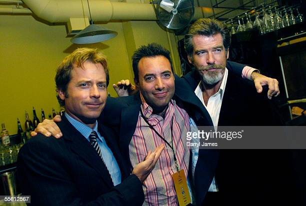 "Actors Greg Kinnear, wirter/director Richard Shepard, and Pierce Brosnan attend the afterparty for the film ""The Matador"" during the 30th Annual..."