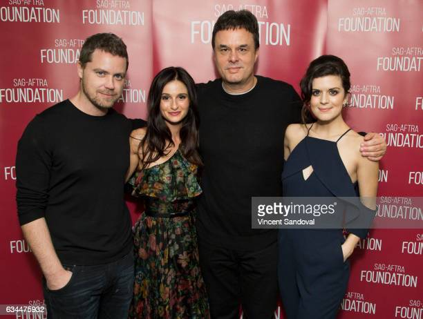 Actors Greg Poehler Melanie Papalia Showrunner John Scott Shepherd and Actor Priscilla Faia attend SAGAFTRA Foundation's Conversations with 'You Me...