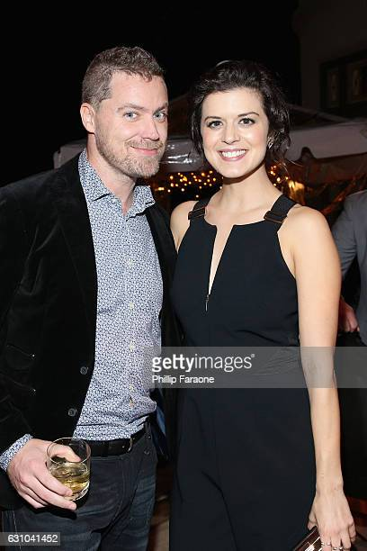 Actors Greg Poehler Priscilla Faia attend ATT AUDIENCE Network Presents during 2017 Winter TCA at Langham Hotel on January 5 2017 in Pasadena...
