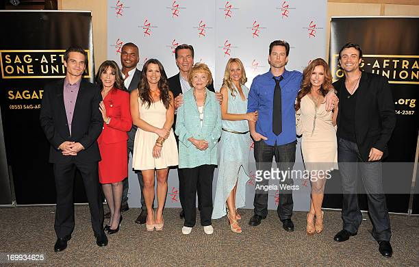 Actors Greg Rikaart Kate Linder Redaric Williams Melissa Claire Egan Peter Bergman cocreator Lee Phillips Bell Sharon Case Michael Muhney Tracey E...