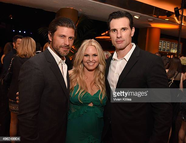 Actors Greg Vaughan, Terri Conn and Austin Peck attend the Days Of Our Lives' 50th Anniversary Celebration at Hollywood Palladium on November 7, 2015...