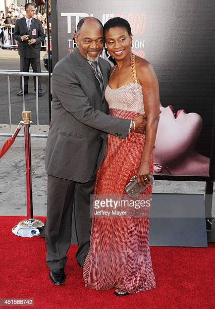 Actors Gregg Daniel and Adina Porter arrive at HBO's 'True Blood' final season premiere at TCL Chinese Theatre on June 17 2014 in Hollywood California