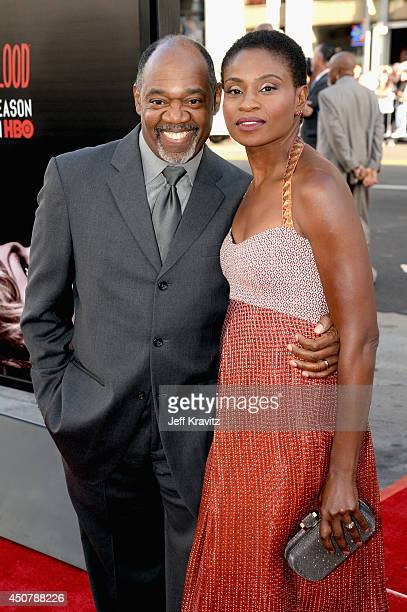 Actors Gregg Daniel and Adina Porter attend HBO 'True Blood' season 7 premiere at TCL Chinese Theatre on June 17 2014 in Hollywood California