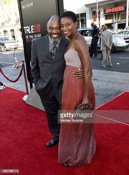 Actors Gregg Daniel and Adina Porter attend Premiere Of HBO's 'True Blood' Season 7 And Final Season at TCL Chinese Theatre on June 17 2014 in...