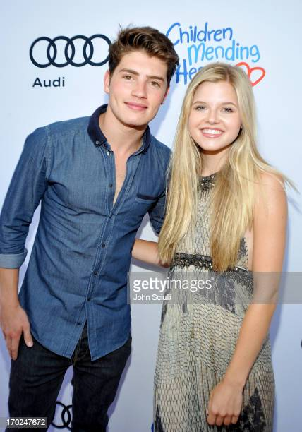 Actors Gregg Sulkin and Ana Mulvoy Ten arrive at the 1st Annual Children Mending Hearts Style Sunday on June 9 2013 in Beverly Hills California