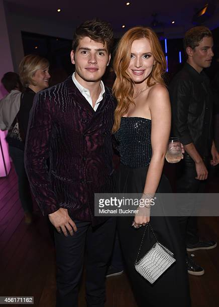 Actors Gregg Sulkin and Bella Thorne attend the 12th Annual Teen Vogue Young Hollywood Party with Emporio Armani on September 26 2014 in Beverly...
